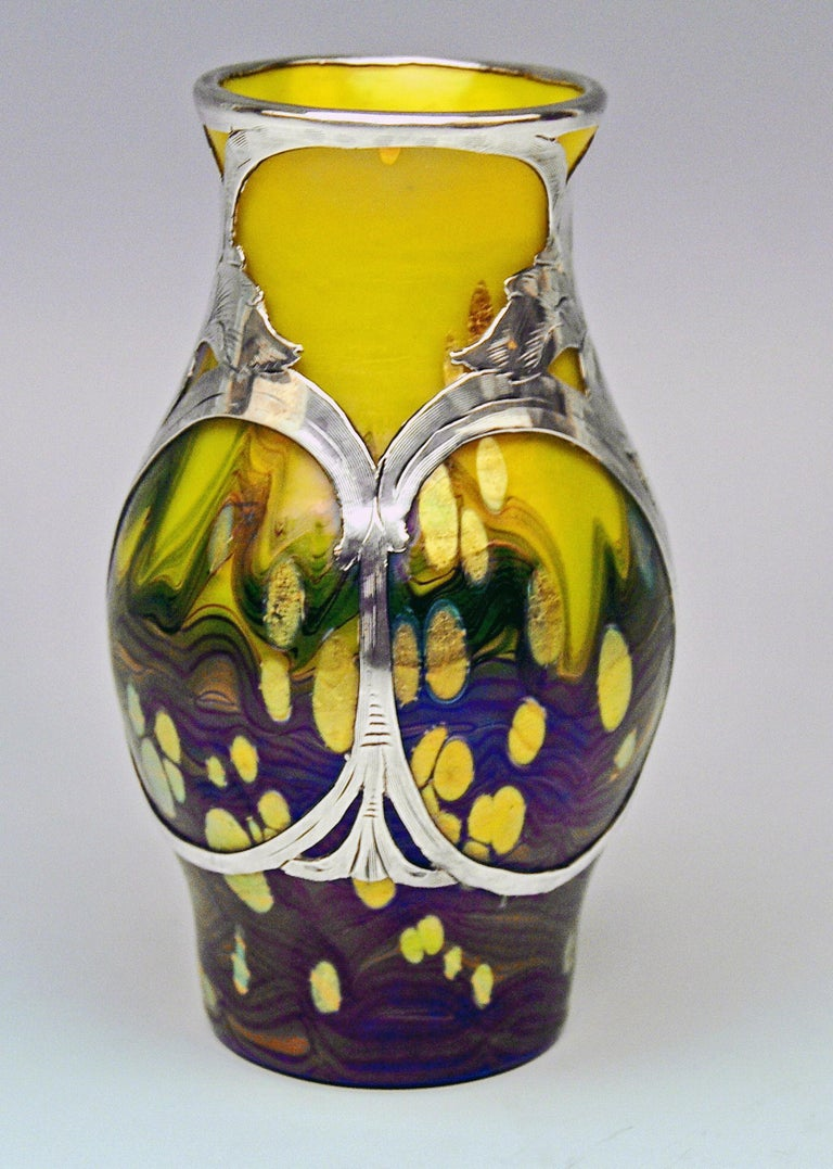 Vase Loetz (Lötz) Widow Klostermuehle Bohemia Art Nouveau 