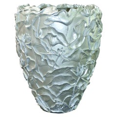 Vase Lotus, in Resin, White Motherpearl Color, Italy