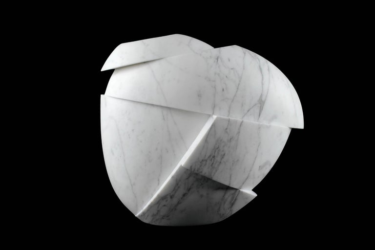 Vase Sculpture White Statuary Marble from Carrara by Pieruga Marble For Sale 6