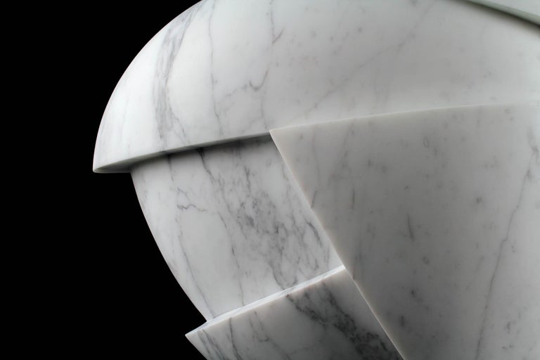 Vase Sculpture White Statuary Marble from Carrara by Pieruga Marble For Sale 1