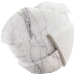 Vase Sculpture White Statuary Marble from Carrara by Pieruga Marble