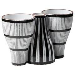 """Vase """"Snurran"""" Designed by Stig Lindberg for Gustavsberg, Sweden, 1940s"""