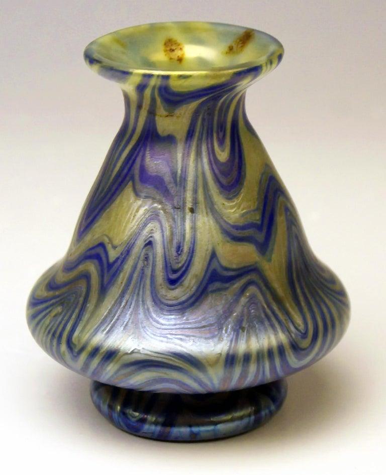 Austrian Vase Tapering Loetz Widow Klostermuehle Signed Art Nouveau 1900 PG 1/104 For Sale