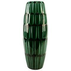 Green Large Ceramic midcentury Vase Upsala Ekeby Adria