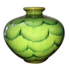 Vase with Painted Green Decoration