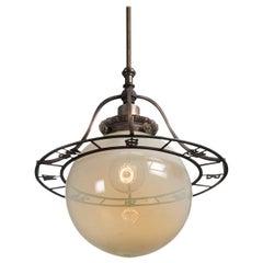 Vaseline Glass Compass Globe Lamp
