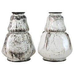 Vases by Svend Hammershoi for Herman A. Kahler Keramik, Denmark, 1930s