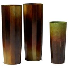 Vases Designed by Ivar Ålenius-björk for Ystad Brons, Sweden, 1930s