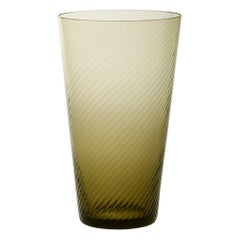Vaso Squadrato28, Vase Handcrafted Muranese Glass, Angora Twisted MUN by VG