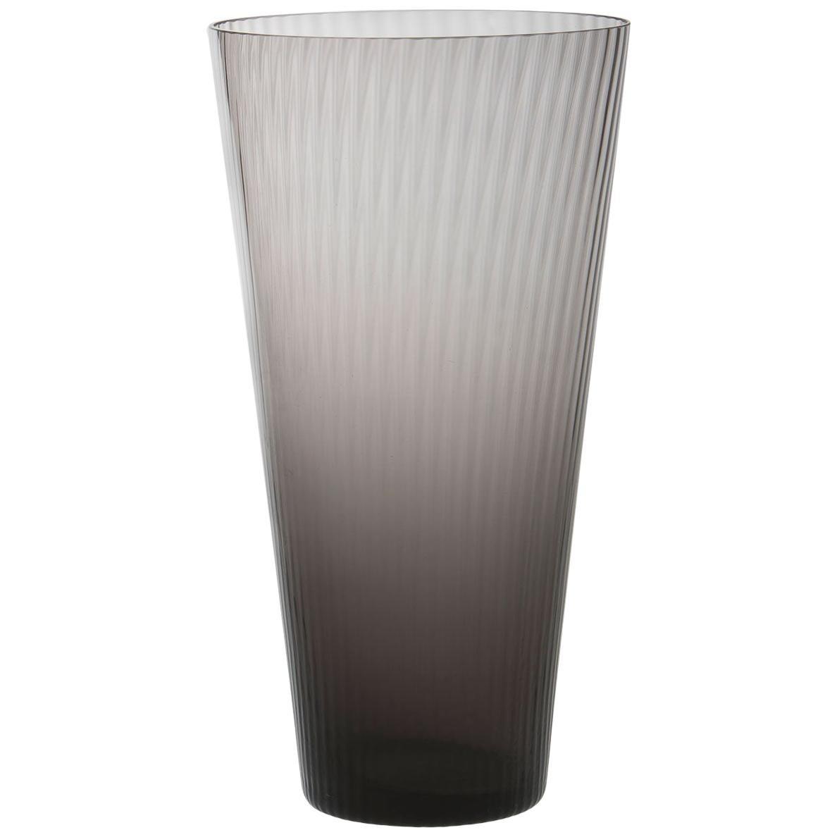 Vaso Squadrato34, Vase Handcrafted Muranese Glass, Lead Plisse MUN by VG