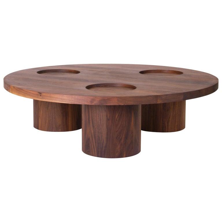 VASSOIO Contemporary Coffee Table in Solid Wood by Estudio Persona For Sale