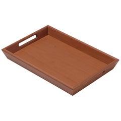 Gae Aulenti Vassoio Wooden Tray with Handles 26x18 for Bottega Ghianda