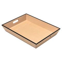 Gae Aulenti Vassoio Wooden Tray with Handles for Bottega Ghianda