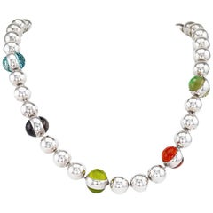 Vaubel Sterling Silver Quartz Toggle Necklace