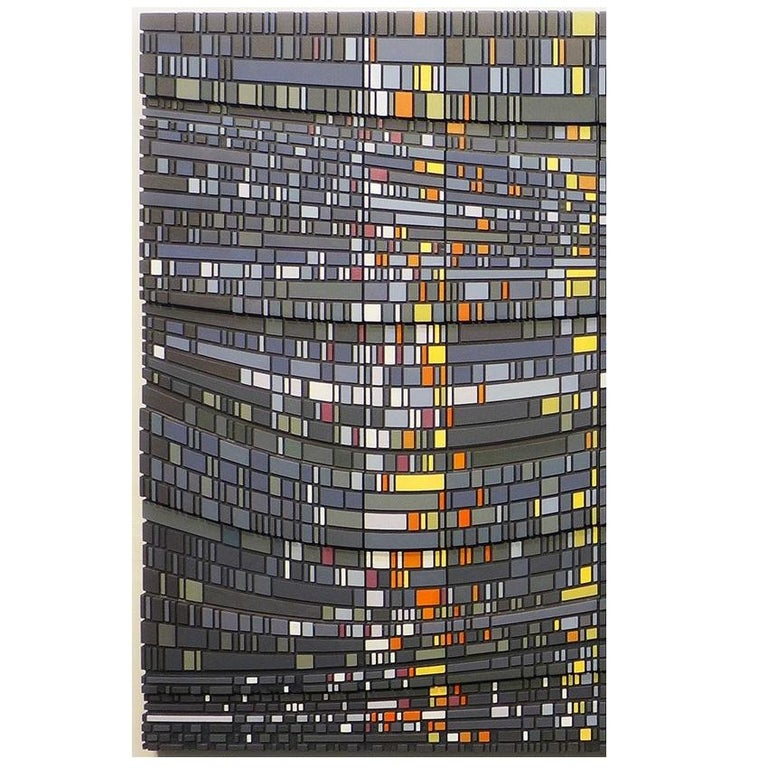 Empty Light - triptych contemporary modern geometric sculpture painting relief - Contemporary Painting by Vaughn Horsman