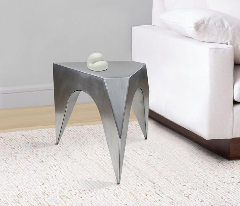 Modern Vault Stool, Aluminum Stool or End Table For Sale