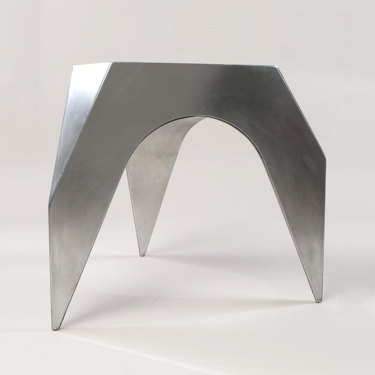 American Vault Stool, Aluminum Stool or End Table For Sale