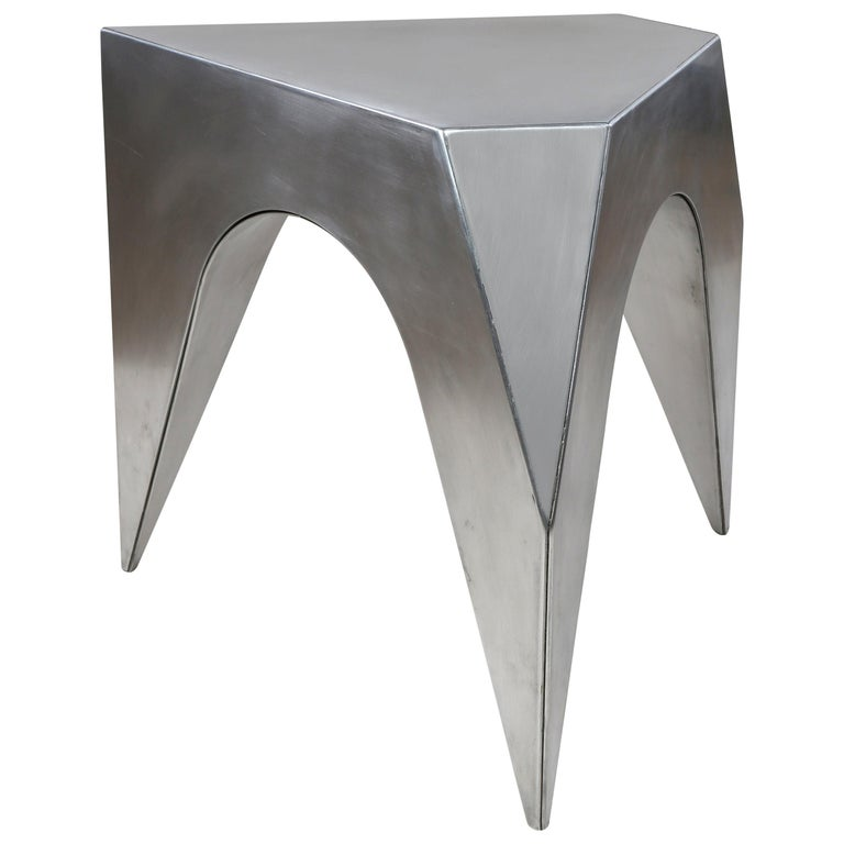 Vault Stool, Aluminum Stool or End Table For Sale