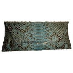 VBH Blue Python Skin Limited Edition Stretch Bag