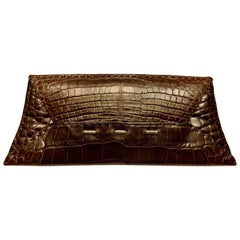 VBH Dark Chocolate Brown Alligator Limited Edition Manila Bag