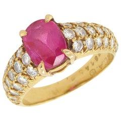 VCA Ruby Diamond Ring