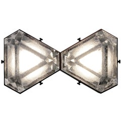 Vega Due Wall Sconce / Ceiling Mount in Cast Glass By Matthew Fairbank
