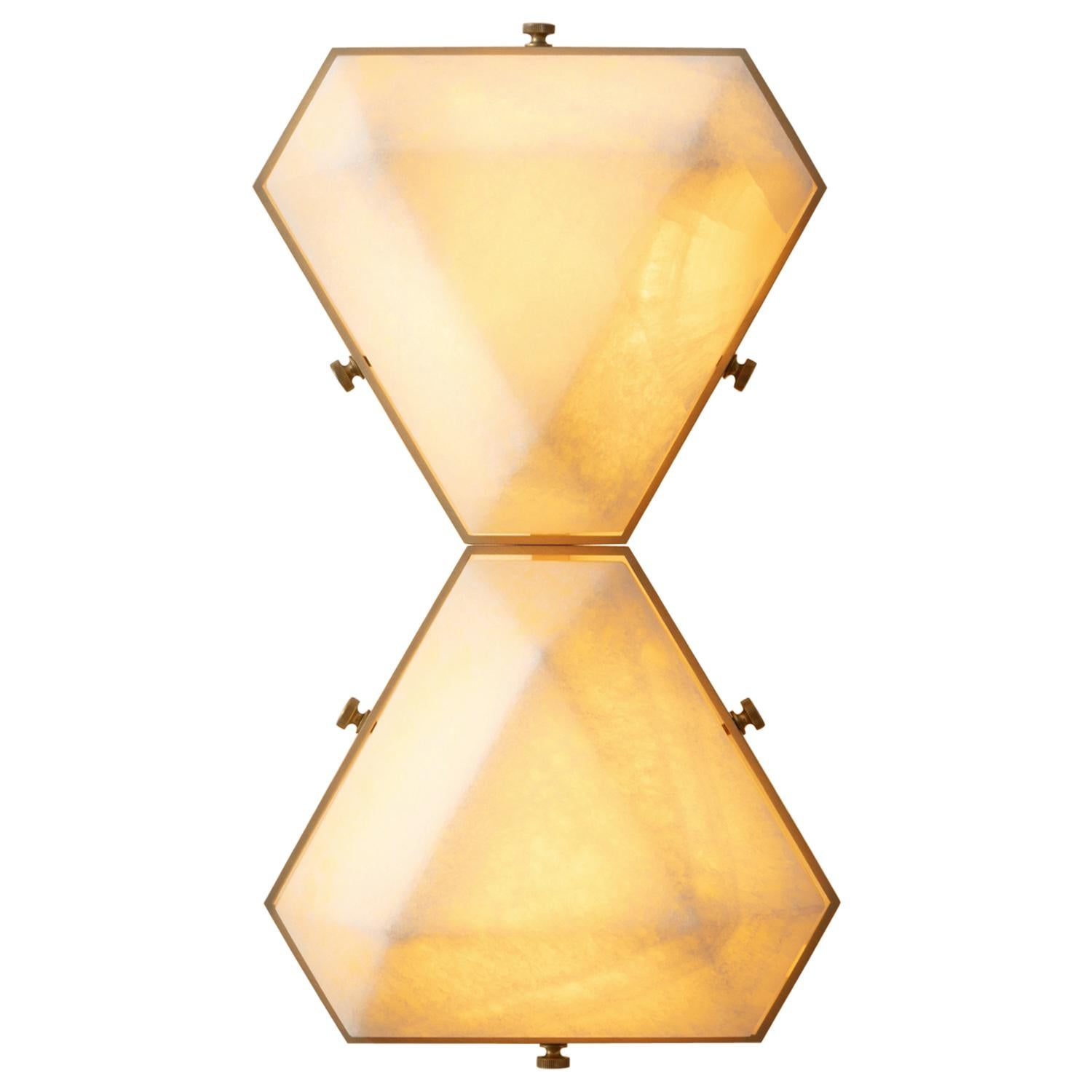 Vega Due Wall Sconce / Ceiling Mount in White Onyx by Matthew Fairbank