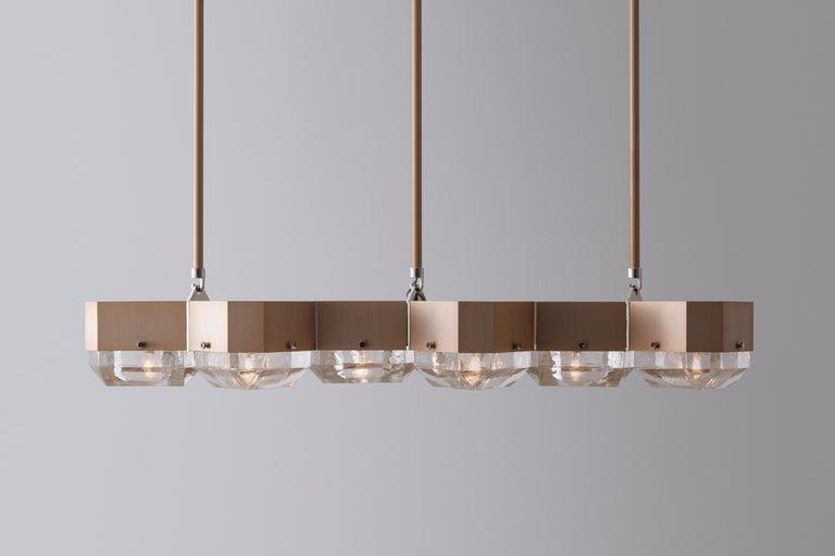 Modern Vega Linear Six in Cast Glass by Matthew Fairbank For Sale