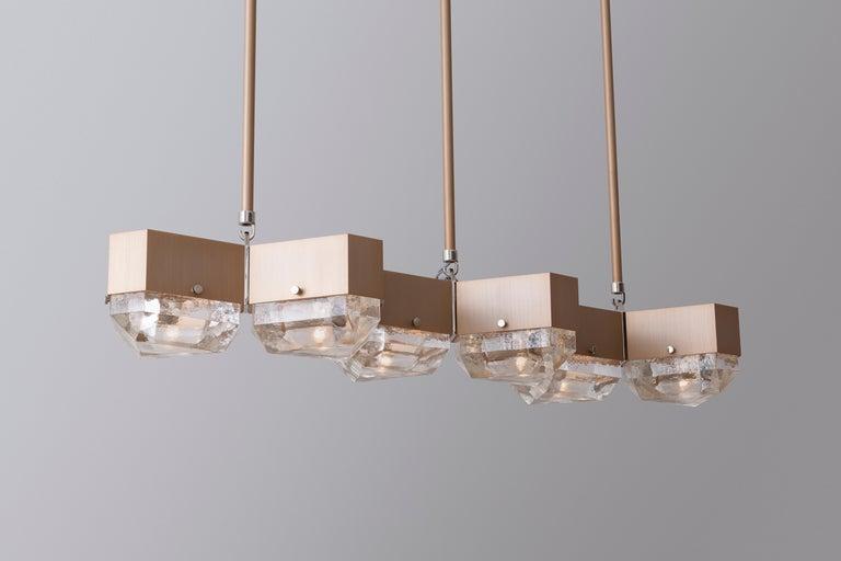 American Vega Linear Six in Cast Glass by Matthew Fairbank For Sale