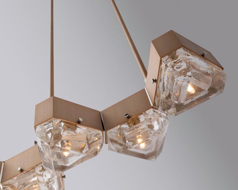 Anodized Vega Linear Six in Cast Glass by Matthew Fairbank For Sale