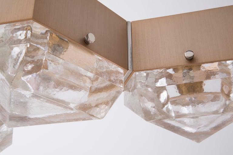 Aluminum Vega Linear Six in Cast Glass by Matthew Fairbank For Sale