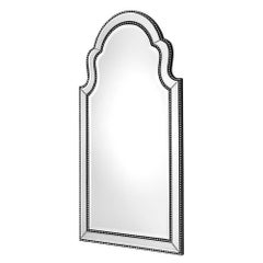 Vegas Mirror with Mahogany Frame and Nickel Nails