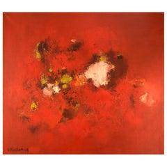 Veikko Kallinen, Finland, Abstract Composition, Oil on Canvas, 1960s-1970s