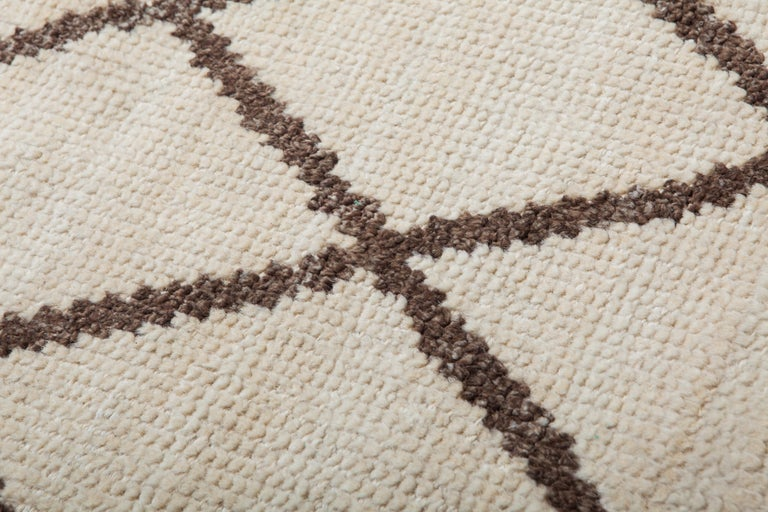 Modern Veil Carpet, Hand Knotted in Wool and Leather, Sebastian Herkner For Sale