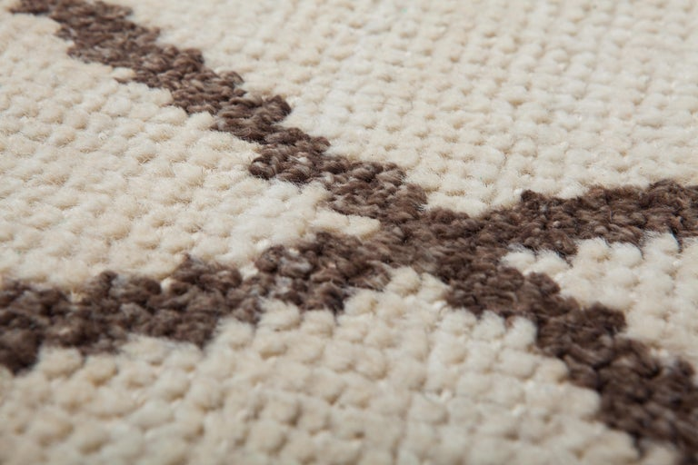 Hand-Knotted Veil Carpet, Hand Knotted in Wool and Leather, Sebastian Herkner For Sale
