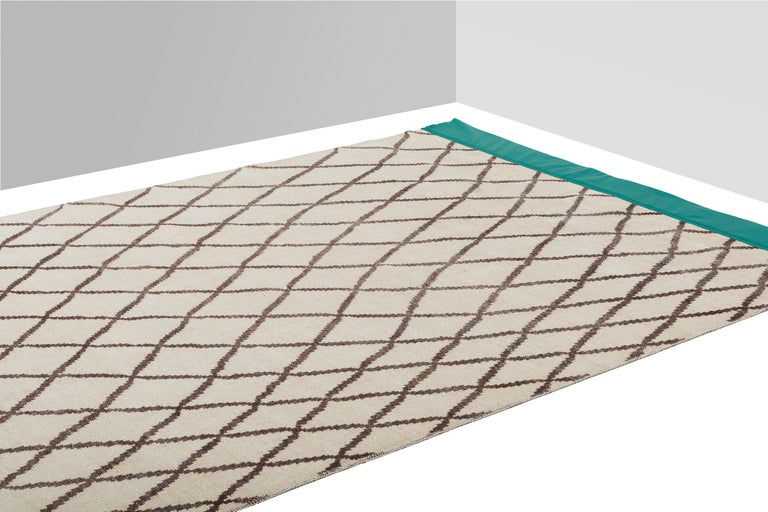 Veil Carpet, Hand Knotted in Wool and Leather, Sebastian Herkner For Sale 1