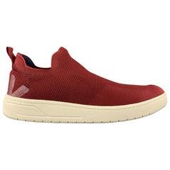 VEJA Size 10 Burgundy Woven Knit AQUASHOW V KNIT Slip On Sneakers
