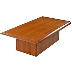 Vejle Stole & Mobelfabrik Danish Teak Pedestal Base Coffee Table