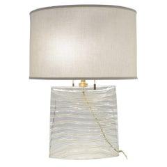 Vela Venetian Glass Lamp by Donghia