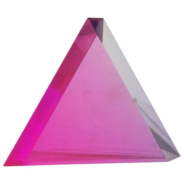 "Velizar Mihich ""Vasa"" Acrylic Triangle For Sale"