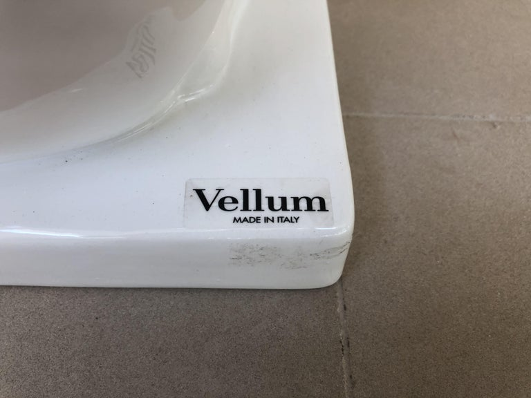 Vellum Italy Ceramic Greyhound Sculpture For Sale 5