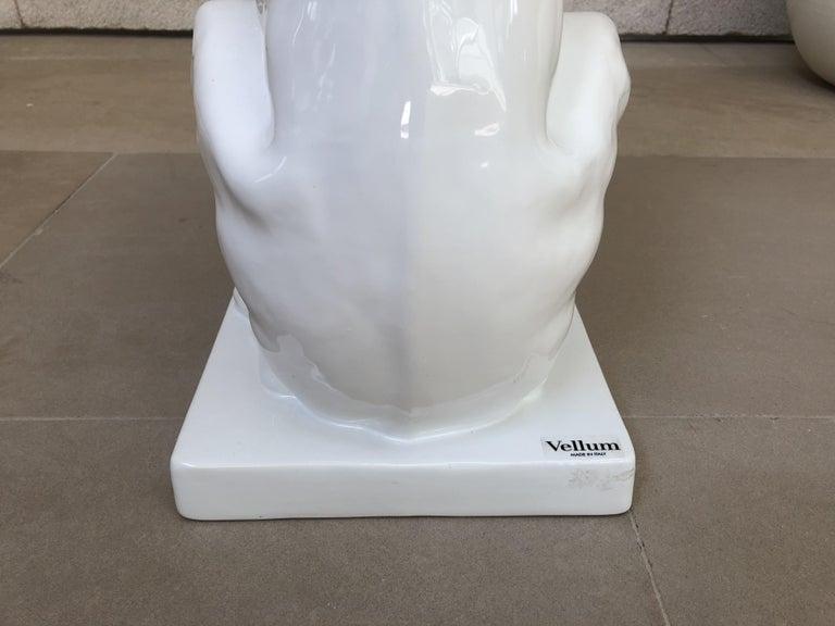 Vellum Italy Ceramic Greyhound Sculpture For Sale 6