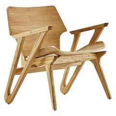 Velo Armchair with Shaped Seat and Shaped Back in Teak Finish