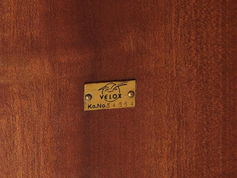 Velox Desk in Oak and Chrome For Sale 2