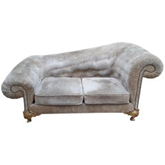 Velvet and Bronze Sofa by Elisabeth Garouste & Mattia Bonetti, 20th Century