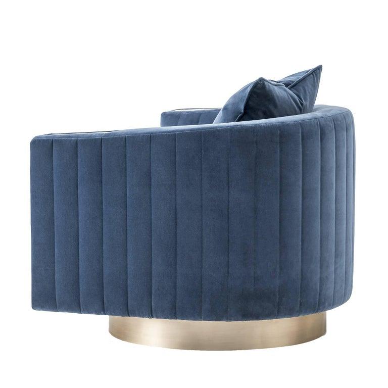 Velvet Armchair For Sale at 1stdibs