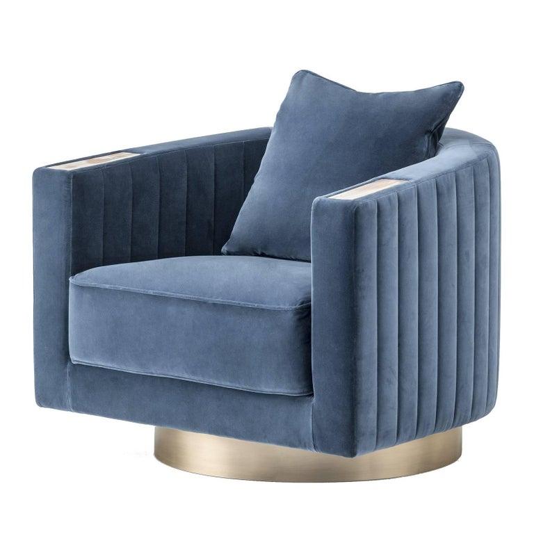 Velvet Armchair For Sale