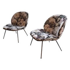 Velvet Beetle Lounge Chairs Set of 2