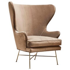 Velvet Highland Wingback Chair by Lawson-Fenning