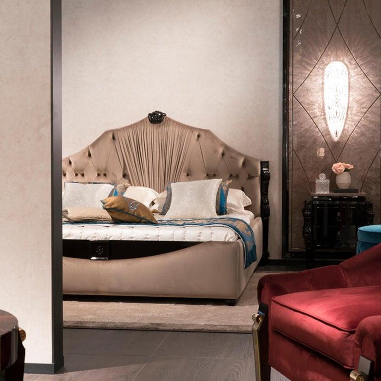 Modern Velvet King Size Bedframe For Sale